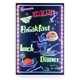 Woodsam LED Message Writing Board Illuminating Flashing Menu Sign Board Remot... - Chickadee Solutions - 1