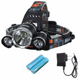 OUTERDO 5000Lumen Headlamp 4 Mode Head Lamp Headlight 3 Chips XML T6+2R5 Led ... - Chickadee Solutions - 1