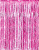 Metallic Pink Foil Fringe Curtains (1 Pc) by Kangaroo; Baby Shower Party Supp... - Chickadee Solutions - 1