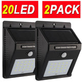 4MODE 20LED 2PACK Upgraded Super Bright Sogrand Solar Motion Sensor Light Wea... - Chickadee Solutions - 1