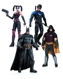 Arkham City: Harley Quinn Batman Nightwing & Robin Action Figure 4-Pack - Chickadee Solutions