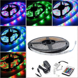 Qimisi 16.4 Ft SMD 3528 RGB 300 LED Strip Multi Color Set (24 Key IR Remote C... - Chickadee Solutions - 1