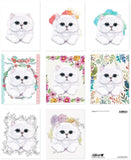 White Persian Kitty Cat Postcards Set of 8 Printed on Eco-Friendly Paper Perf... - Chickadee Solutions - 1