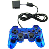Wired Controller Double Shock For Playstation 2 PS2 Blue - Chickadee Solutions - 1