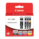 Canon PGI-225BK Black and CLI-226 C/M/Y Color Ink Cartridges (4530B008) Combo... - Chickadee Solutions