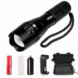 WZS 900 Lumens Adjustable Focus Zoomable Flashlight Torch 5 Modes LED Flashli... - Chickadee Solutions - 1