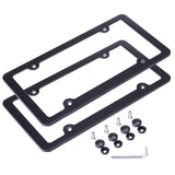 L-Fine License Plate Frame Aluminum Alloy with Stainless Steel Screw Caps (Bl... - Chickadee Solutions - 1