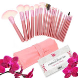 Professional Makeup Brushes 22 Piece Set Pink Vegan with Comfortable Plastic ... - Chickadee Solutions - 1