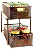 DecoBros Two Tier Mesh Sliding Cabinet Bronze (BK-017) - Chickadee Solutions - 1