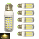 RCLITE 6-Pack 7W E26/E27 56-LED 5730 SMD LED Corn Bulb60 Watts Replacement In... - Chickadee Solutions - 1