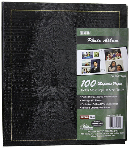 Pioneer Magnetic Page Photo Album 10-Inch-by-11-1/2-Inch Color Varies 1 - Chickadee Solutions - 1