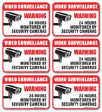 "(6 Pack) Video Surveillance Sign - Decal Self Adhesive "" 2 X 3"" 4 Mil Vinyl D... - Chickadee Solutions - 1"