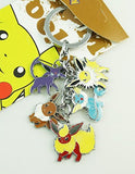 Pokemon Pocket Monster Metal Charm Keychain (Jolteon Eevee Espeon Flareon and... - Chickadee Solutions