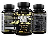 Nootropics Brain Supplement for Memory Focus Mental Clarity Support - Boosts ... - Chickadee Solutions - 1