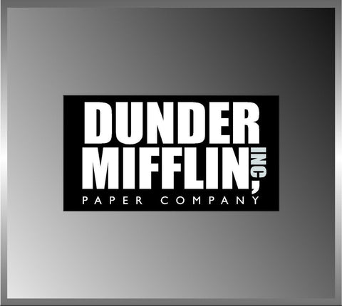 "2.5"" Dunder Mifflin Paper High Quality Decal Bumper Sticker Car the Office Tv... - Chickadee Solutions"