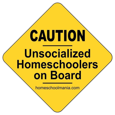 Caution: Unsocialized Homeschooler on Board Magnet - Chickadee Solutions
