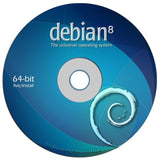 "Debian Linux 8.0 ""Jessie"" on DVD - Full (64-bit) Live / Install version. - Chickadee Solutions"
