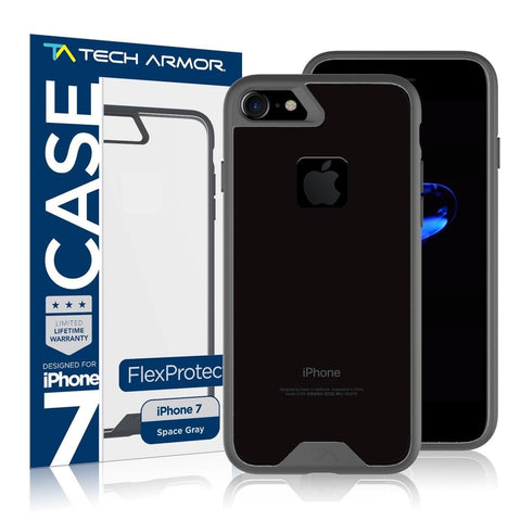 iPhone 7 Case Tech Armor Apple iPhone 7 FlexProtect Case Grey/Clear - Perfec... - Chickadee Solutions - 1