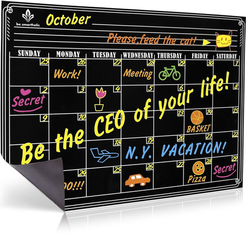 Be Smartholic - Magnetic Dry Erase Calendar for Refrigerator In Premium Gift ... - Chickadee Solutions - 1