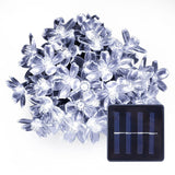 LE Solar Flower Fairy String Lights 50 LEDs 23ft Waterproof Daylight White P... - Chickadee Solutions - 1