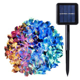 WishWorld Blossom Flower Solar String Lights 21ft 50LEDs Waterproof Fairy Lig... - Chickadee Solutions - 1