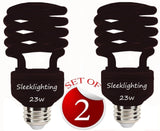 SleekLighting 23 Watt T2 BLACK Light Spiral CFL Light Bulb 120V E26 Medium Ba... - Chickadee Solutions