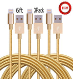 Aplenta 3-Pack 6feet 8 Pin Lightning to USB Cable Syncing and Charging Cable ... - Chickadee Solutions