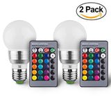 Massimo Retro LED Color Changing Light Bulb with Remote Control (2 Pack)16 Di... - Chickadee Solutions - 1
