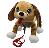 Peppy Pups - Stuffed Plush Dog That Walks Along With You - Kid Powered Dog To... - Chickadee Solutions - 1