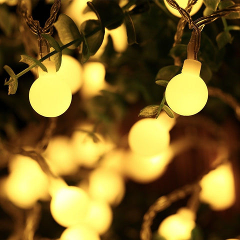 Christmas String Lights Icicle 33Ft/10M 100 Led String Lights Globe Safe Low ... Chickadee ...