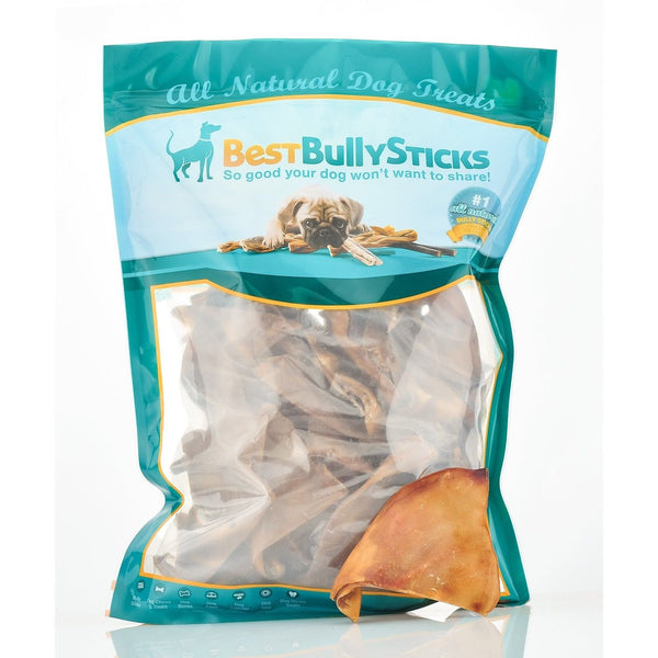 half cut pig ear dog treats by best bully sticks 50 count value pack chickadee solutions. Black Bedroom Furniture Sets. Home Design Ideas