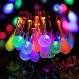 Solar String Lights By Zeso 20ft 30 LED 15 Water Drop & 15 Crystal Waterproof... - Chickadee Solutions - 1
