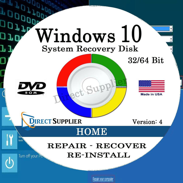 Asus Recovery Dvd Disk For Windows 10 Home And: Windows 10 64 Bit