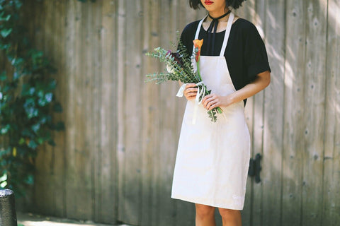 Green Fork Culture Linen Multipurpose Apron - Chickadee Solutions - 1