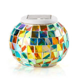 Solar Powered Mosaic Glass Ball Garden Lights Color Changing Solar Table Lamp... - Chickadee Solutions - 1