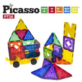 PicassoTiles 26 Piece Building Blocks 26pcs Inspirational Kit 3D Building Con... - Chickadee Solutions - 1