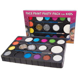 Face Paint Kit for Kids 14 Color Party Pack. 4 Sponges 2 Glitter Gels 2 Brush... - Chickadee Solutions - 1