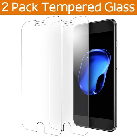 iPhone 7 Plus Screen Protector OULUOQI 2 Pack Premium Tempered Glass Screen P... - Chickadee Solutions - 1