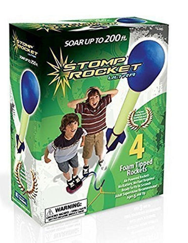 The Original Stomp Rocket: Ultra 4-Rocket Kit Blue Green (20082) - Chickadee Solutions