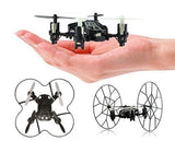 Top Race 4-Channel Micro Mini-Drone Rolling Quadcopter with Wheels Fly Roll a... - Chickadee Solutions - 1