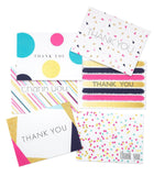 Colorful Chic Thank You Cards 30 Blank Notes with Envelopes 6 Designs Faux Go... - Chickadee Solutions - 1