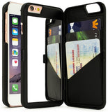 iPhone 6 Plus Case Bastex Hidden Back Wallet Mirror Case with Stand Feature a... - Chickadee Solutions - 1