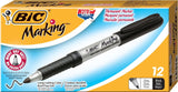 BIC Marking Permanent Marker Fine Point Black 12-Count - Chickadee Solutions - 1