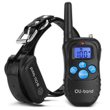 OU-BAND Waterproof Rechargeable Remote Dog Training Shock Collar with Safe Be... - Chickadee Solutions - 1