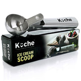KUCHE Easy Trigger Stainless Steel Ice Cream Scoop Cookie Dough and Water Mel... - Chickadee Solutions - 1