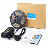 SolarStar LED Strip Lights Kit RGB 300LEDs 16.4ft SMD5050 Waterproof with 44-... - Chickadee Solutions - 1