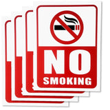 No Smoking Sign - 4 Pieces - Rust Free - Clear And Visible Text - Light Tough... - Chickadee Solutions - 1