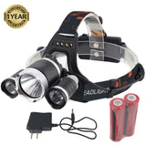 GYY Super Bright Headlamp Headlight Flashlight 4 Modes 3 CREE T6 LED Light To... - Chickadee Solutions - 1