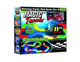 Magic Tracks 220-Piece Glow Track Bundle with Glow in the Dark Stickers and Car - Chickadee Solutions - 1