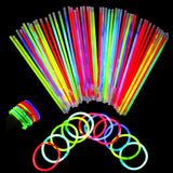 Neon Light Up Glow Sticks Bright Glo Lite Stix 8'' Bracelet Necklace Favors 2... - Chickadee Solutions - 1